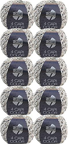 Lana Grossa 4 Capi Color 110 - Gomitolo di lana da 500 g, 10 x 50 g