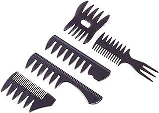 5 Piezas Peine Texturizante para Hombre,peine de Horquilla de Dientes Anchos, Peine para Peinado con Aceite ideal Para Todo Tipo de Cabello
