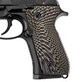 Cool Hand G10 Grips for Beretta 92/96 Full Size, 92 fs, m9, 92a1, 96a1, 92 INOX, Sunburst Texture,Coyote Color,B92-J6-24