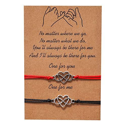 Pulsera de abalorios para el amor, 2 unidades, amistad, mejor amiga y mamá, diseño de lunares, pulsera de tobillo de oro y plata