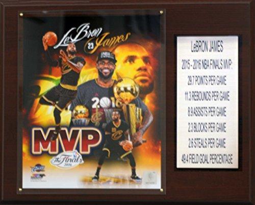 NBA Cleveland Cavaliers LeBron James 2015-16 Finals MVP Plaque, Brown, 12 x 15'