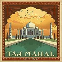 大人のためのジグソーパズル2000ピース-タージマハル、ニューデリー、インドパズル-優れたカッティングパズル-鮮やかな色が家族の挑戦パズルゲームに合う-70x100cm