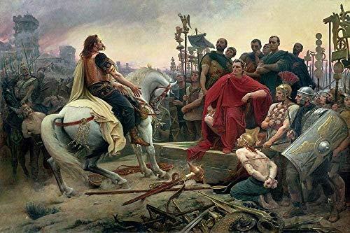 FNKC Puzzle 1000 Teile Holzpuzzle Erwachsene Kinder Puzzle Puzzle Römisches Reich Gemälde Caesar das große Holzgeschenk für Kinder