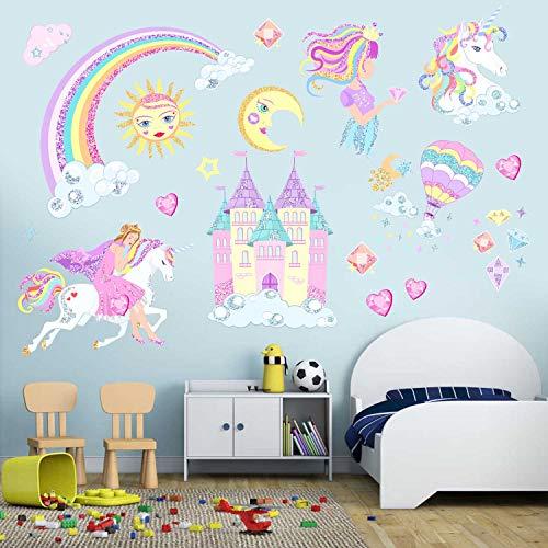 CatWallArt - Adhesivos decorativos para pared, diseño de unicornio