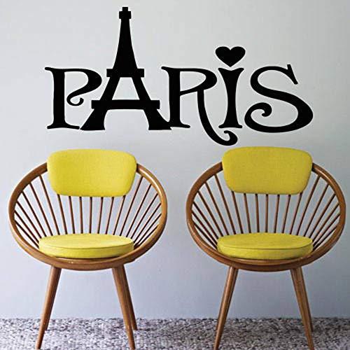 Tianpengyuanshuai wandsticker stad Parijs wandsticker slaapkamer Frans landhuis Europa huisdecoratie behang afneembaar