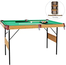 AIPINQI Pool Table, 55 Inch Folding Pool Table Top Game Billiard Table for Kids and Adults with All Accessories Included