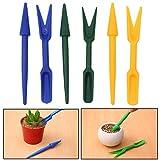 2pcs/set plástico Jardín Semillas Widger semilleros plantador trasplante plantación Digging Herramientas