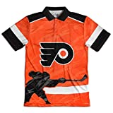 NHL Philadelphia Flyers Polyester Thematic Polo Shirt, Large