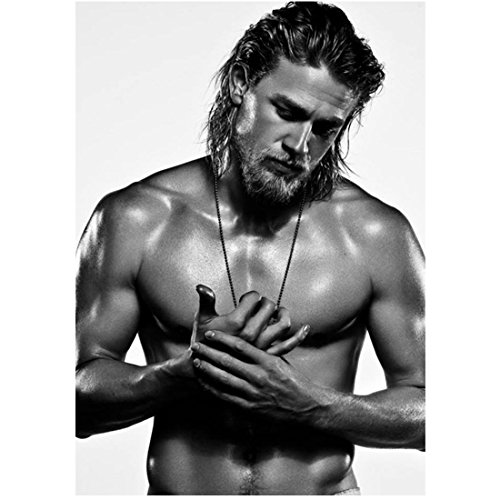 Sons of Anarchy Charlie Hunnam as Jackson 'Jax' Teller Shirtless HOT Black and White 8 x 10 Photo