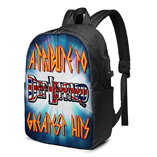 IUBBKI Bolsa para computadora mochila USB D-Ef-Le-Pp-Ard-Hy-Steria 17 Inch Laptop Backpack For Men & Women,Travel/School Backpack With Usb Charging Port & Headphone Interface
