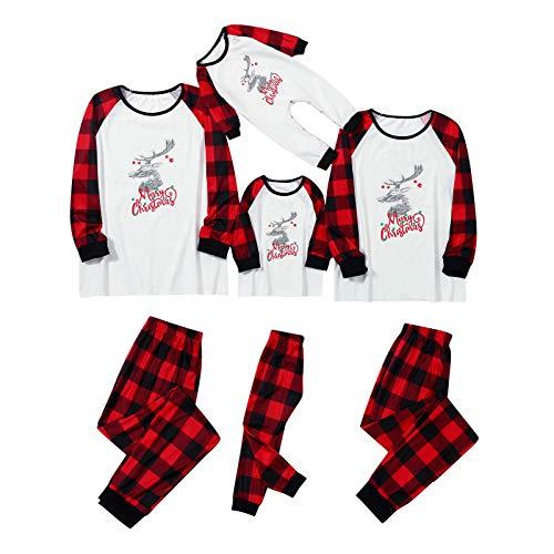 Orderking Weihnachten Schlafanzug Familie Bekleidungssets Weihnachtspyjamas Rot Plaid...