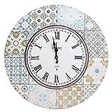 Reloj de Pared Vintage Azul de Metal y DM, de Ø 58 cm - LOL