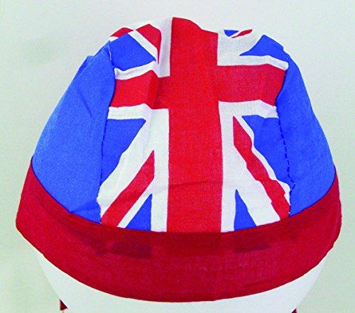 Amscan International 994928 Britain volwassen stof Bandana, rood/wit/blauw, één maat