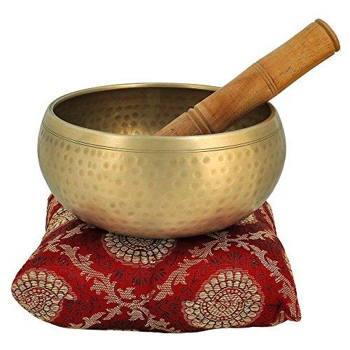 Klangschalen Meditation 12,7 Cm Bell Metall Tibet Buddhistischen Musikinstrument mit Stick und Kissen Singenschüssel - Spitzenqualität