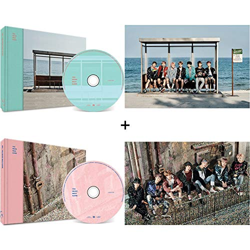 BTS Wings You Never Walk Alone Bangtan Boys Music Album (Left+Right Version Set) 2 CDs+2 Posters+2 Photobooks+2 Photocards+Gift (Extra 6 Photocards Set)