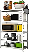 Home Living Museum/Stainless Steel Kitchen Racks 5 Layer Multi Function Microwave Oven Storage Rack Floor Five Story Home ...