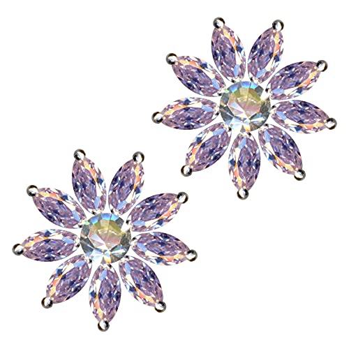 Pendientes de plata de ley 925 con forma de estrella, flor, sol, rosa, cristales de circonita, brillantes, amor, fe, esperanza, emoción, símbolo, diseño, objeto, color blanco, extravagante, a la mod