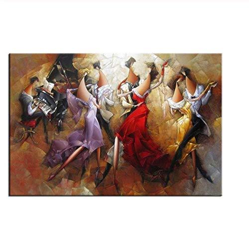 Ballet Girl Pintura al óleo Baile Pintura al óleo Ballet Mural Pareja Arte Abstracto Pintura al óleo Sala de Estar decoración de la Oficina Pintura al óleo