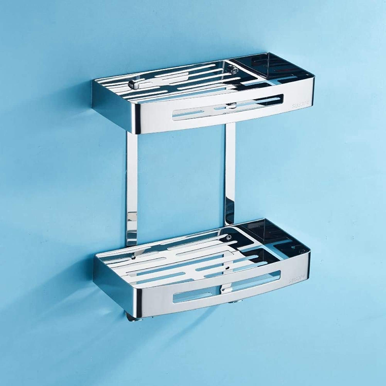 Chuangshengnet Bathroom Shelf,Stainless Steel Triangle soap Rack Bathroom Accessories Rack Hardware Pendant Make The Bathroom Cleaner (color   D)