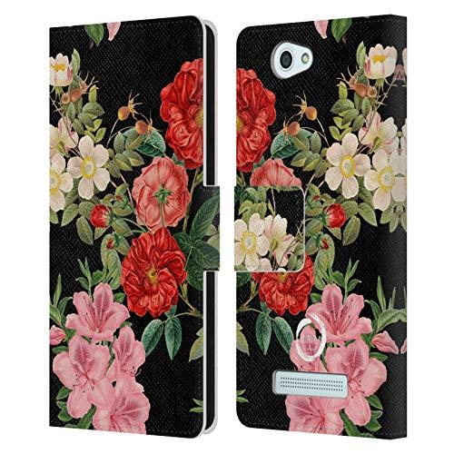 Head Case Designs Offizielle Marianna Mills Vintage Blumiges Gemischte Kunst Leder Brieftaschen Huelle kompatibel mit Wileyfox Spark/Plus