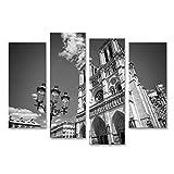 Bild auf Leinwand Notre Dame de Paris schwarz-weiß