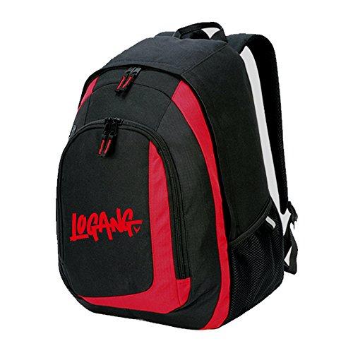 RUCKSACK backpack bag LOGANG jake paul logan jp youtuber maverick team 10 (RED & BLACK BAG)
