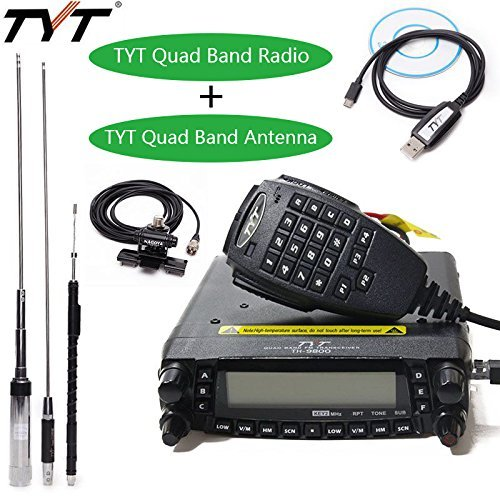 TYT TH-9800 Plus 50W 809CH Quad Band Dual Display Repeater Car Mobile Radio+ Original Quad Band...