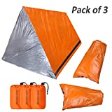 KOMEX 2 Emergency Sleeping Bag with 1 Shelter Survival Tent 2-4 Person Mylar Emergency Tube Tent...