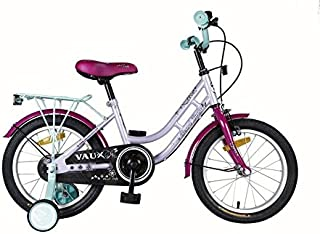 "Vaux Bicycle for Kids- Vaux Pearl Lady 16T Kids Bicycle for Girls. Ideal for Cyclist with Height (3'5"" – 4') – Pink/Purple."