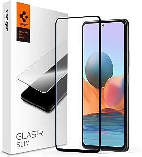 Spigen Skärmskydd kompatibel med Redmi Note 10 Pro, Full Täckning, Kristallklart, Responsiv Touch, 9H härdat Glas