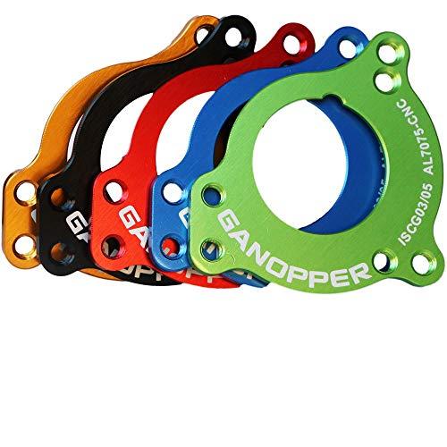 GANOPPER 1X 2X E-Typ BB-System Mountainbike-Kettenführung Bashguard MTB-Kettenfängerprotektor ISCG03 ISCG05 mit BB-Adapter (Blau) - 4