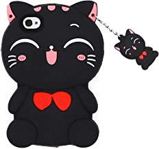 BEFOSSON Cute 3D Cartoon Soft Silicone Cat Phone Cover Case for iPhone 4 / iPhone 4S, iPhone 4 Cat Case for Girls, iPhone 4S Case for Girls (Lucky Cat)