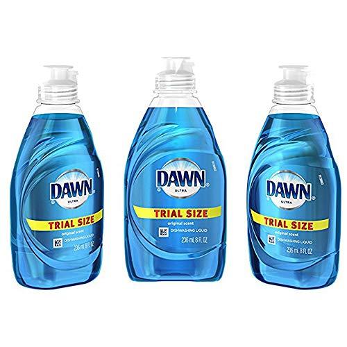 Dawn Ultra Dishwashing Liquid Dish Soap, 8 oz – Travel Size (3 Pack)