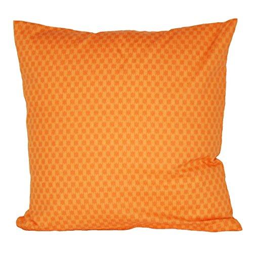 Hans-Textil-Shop kussensloop 40x40 cm strepen patroon oranje katoen (kussenhoes, sofa, bank, bed, decoratie)