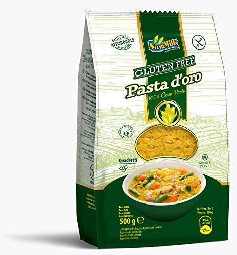 Pasta d´oro – Glutenfreie Nudeln (Quadretti) aus Maismehl   500 g Packung