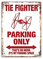 TIE Fighter Parking Only 金属板ブリキ看板警告サイン注意サイン表示パネル情報サイン金属安全サイン