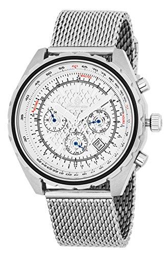 Burgmeister Herren analog Automatik Uhr mit Edelstahl Armband BM353-182
