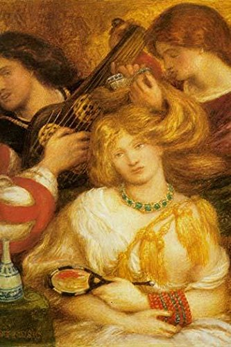 Morning Music a young girls hair is combed while a musician serenades her on a lute Poster Print by Dante Gabriel Rossetti (24 x 36)