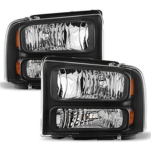 ACANII - For 2005-2007 Ford F250 F350 F450 Superduty SD Harley Davidson Headlights Headlamps Driver + Passenger Side