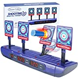 Dreamy Cubby Shooting Targets for Nerf Guns Electronic Scoring Auto Reset Digital Targets Toys for 6 7 8 9 10 Years Old Kids Boys Birthday Gifts