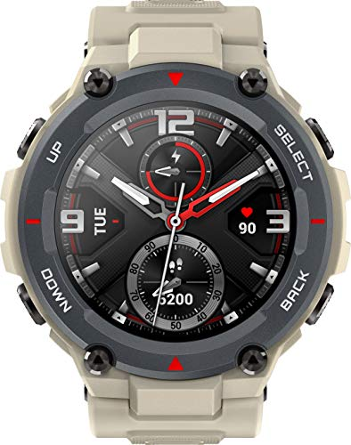 Amazfit T-Rex Reloj Inteligente Caqui AMOLED 3,3 cm (1.3') GPS (satélite) - W1919OV2N,58 g, Caqui
