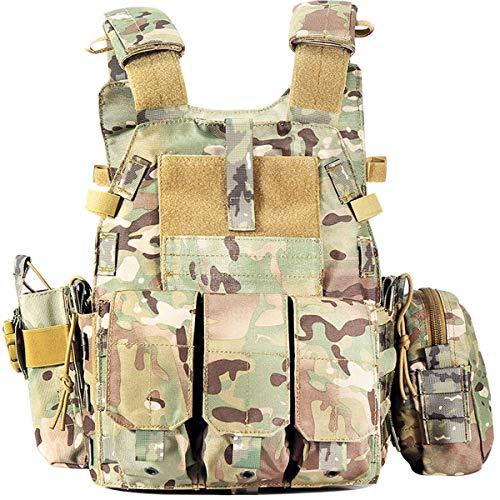 YSGJ Angelzubehör Trainingsweste Tactical Vest Außen Weste Shooting Weste Militärische Kleidung Armee CS Ausrüstung,Tarnen