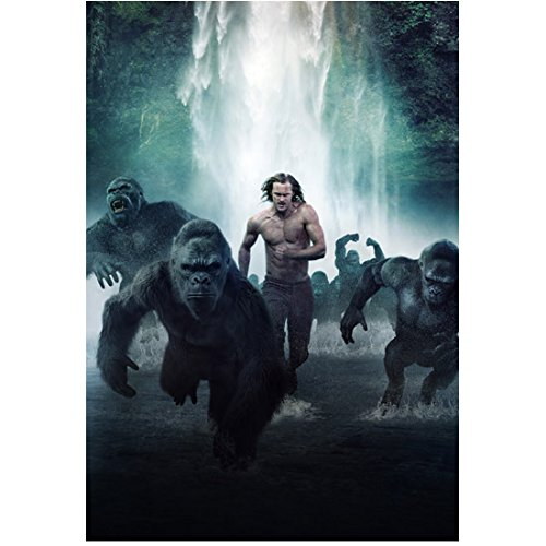 The Legend of Tarzan (2016) 8 inch by 10 inch PHOTOGRAPH Alexander Skarsgard Running Surrounded by Gorillas kn