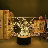 3D ilusión luz led noche anime figura iluminación lámpara manga limo Isekai para niños dormitorio de...