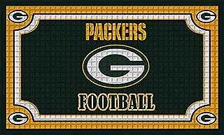 Team Sports America 41EM3811 Green Bay Packers Embossed Door Mat
