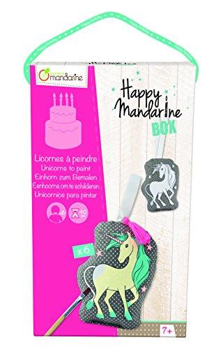 Avenue Mandarine KC009O - Une boite créative Happy madarine box comprenant 6 licornes à peindre pour 6 enfants