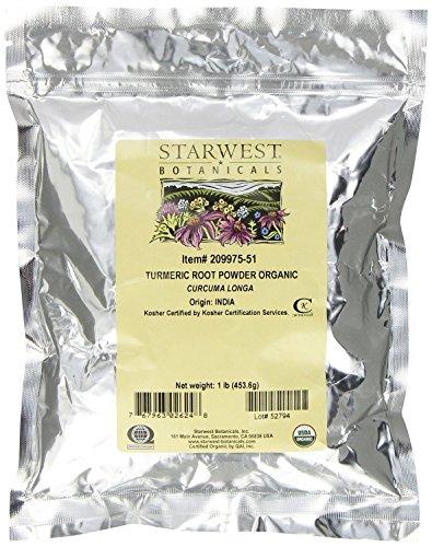 Starwest Botanicals Organic Turmeric Root Powder, 1 lb.