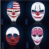 4PCS Zahltag 2 Maske The Heist Dallas/Wolf/Ketten/Hoxton Cosplay Halloween Horror Kettensäge Clown...