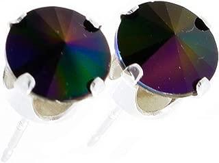 Bo/îte /à bijoux Londres Hypoallerg/énique et sans nickel pour les oreilles sensibles. Boucles doreilles pewterhooter en argent sterling 925 avec cristal opale jaune Swarovski/®