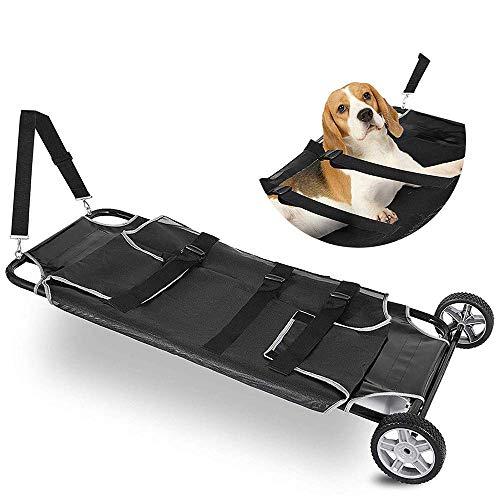 Haustier-Bahre, Kleine Tier-Notbahre, Haustier-Laufkatze Mit Rädern - Für Hund Und Anderes Tier, Maximale Kapazität 250Lbs
